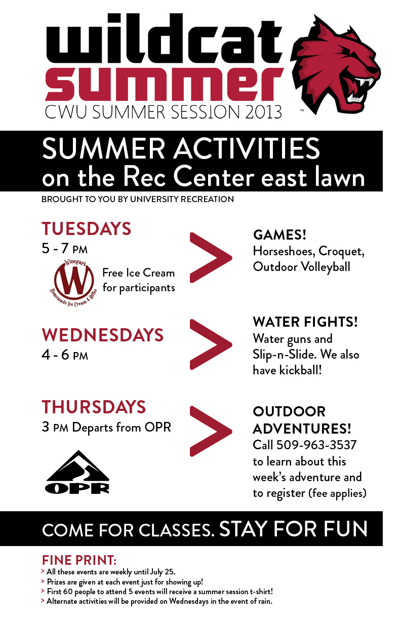 Summer Session activities