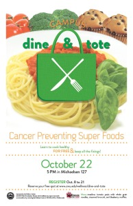 Oct Dine and Tote Poster