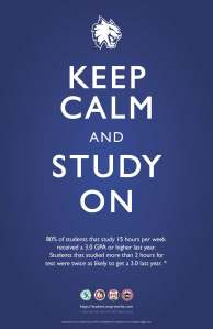 Keep Calm, Study On