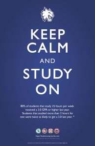 Keep Calm, Study On